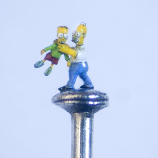 A arte microscópica de Willard Wigan 13