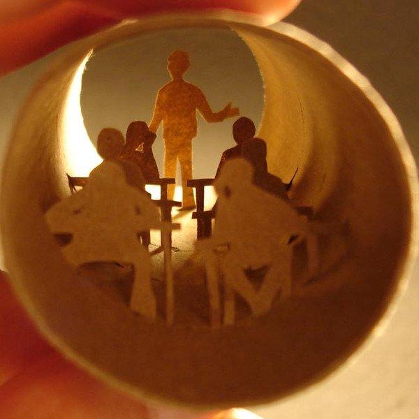Artesanato com rolo de papel higi�nico