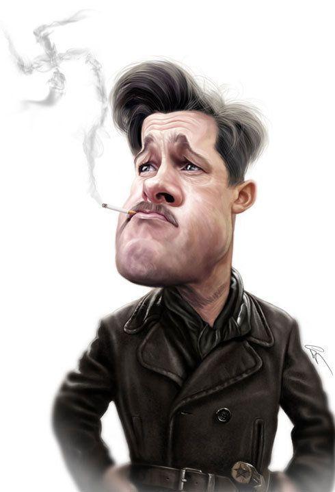 Caricaturas engraçadas de famosos de Marco Calcinaro 07