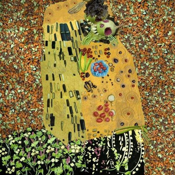 Famosas pinturas recriadas com vegetais