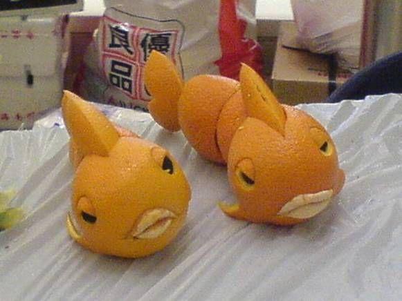 Esculturas com frutas 06