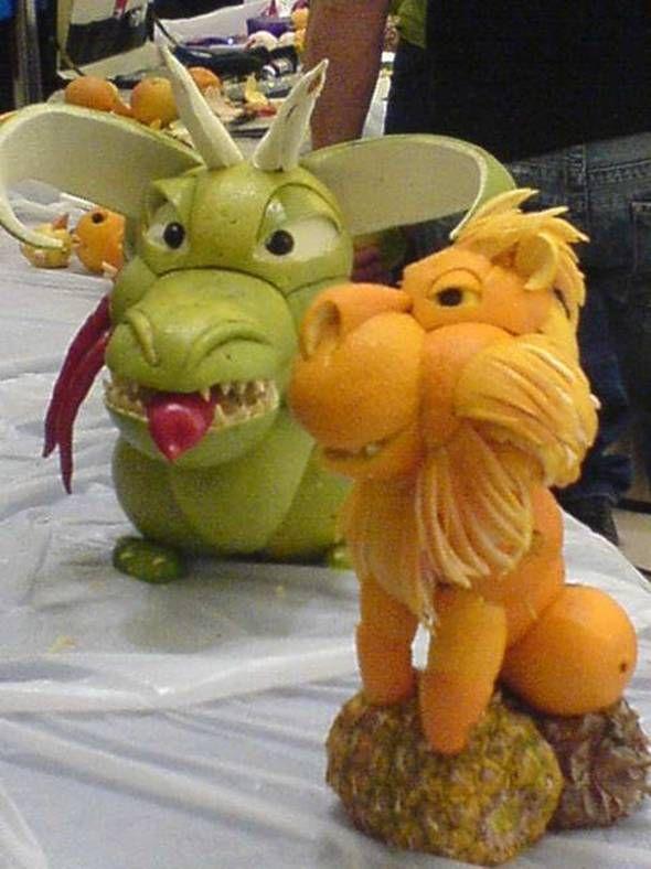Esculturas com frutas 10