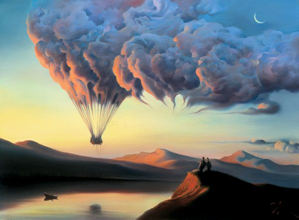 Arte de Vladimir Kush_Crian�as do ex�do 01