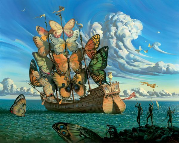 Arte de Vladimir Kush_Crian�as do ex�do 02