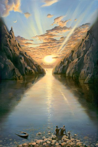 Arte de Vladimir Kush_Crian�as do ex�do 03