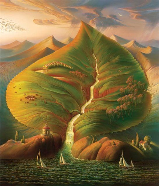 Arte de Vladimir Kush_Crian�as do ex�do 07