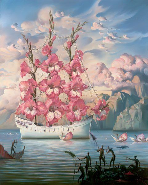 Arte de Vladimir Kush_Crian�as do ex�do 08