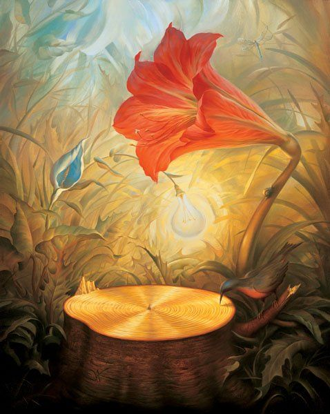Arte de Vladimir Kush_Crian�as do ex�do 09