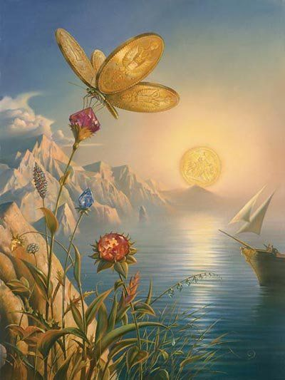 Arte de Vladimir Kush_Crian�as do ex�do 10