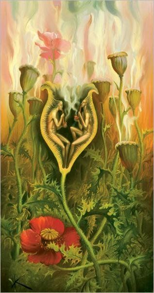 Arte de Vladimir Kush_Crian�as do ex�do 11