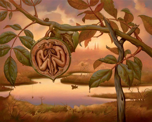 Arte de Vladimir Kush_Crian�as do ex�do 12