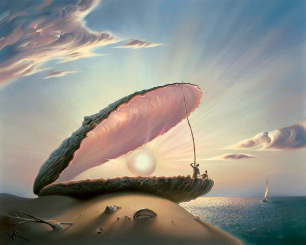 Arte de Vladimir Kush_Crian�as do ex�do 13