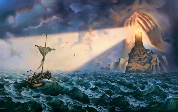 Arte de Vladimir Kush_Crian�as do ex�do 15