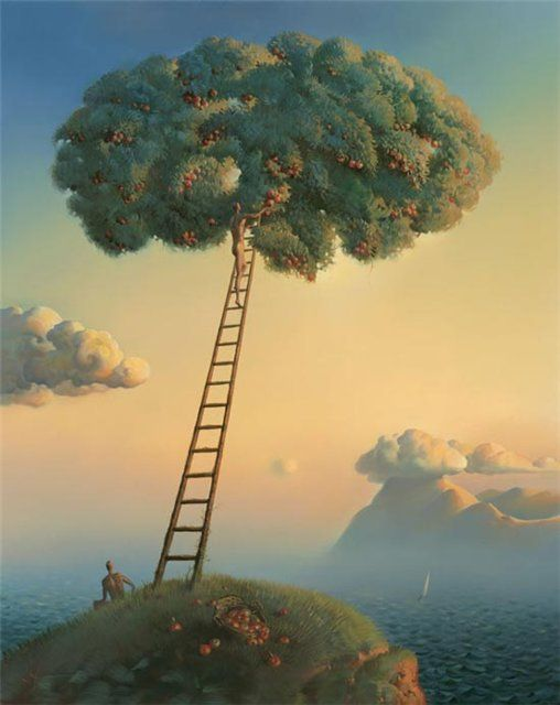 Arte de Vladimir Kush_Crian�as do ex�do 16