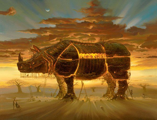 Arte de Vladimir Kush_Crian�as do ex�do 17