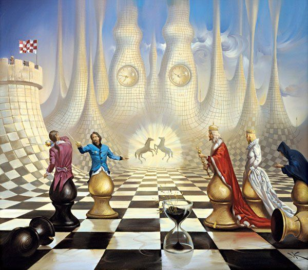 Arte de Vladimir Kush_Crian�as do ex�do 19