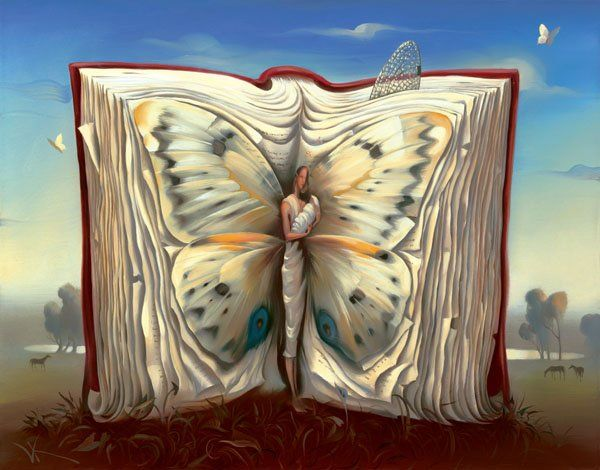 Arte de Vladimir Kush_Crian�as do ex�do 20