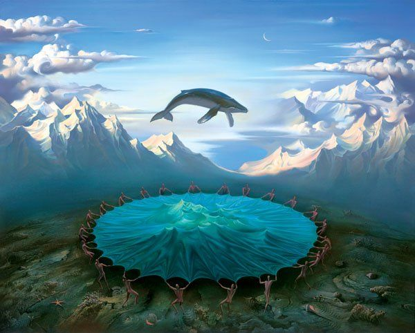 Arte de Vladimir Kush_Crian�as do ex�do 22