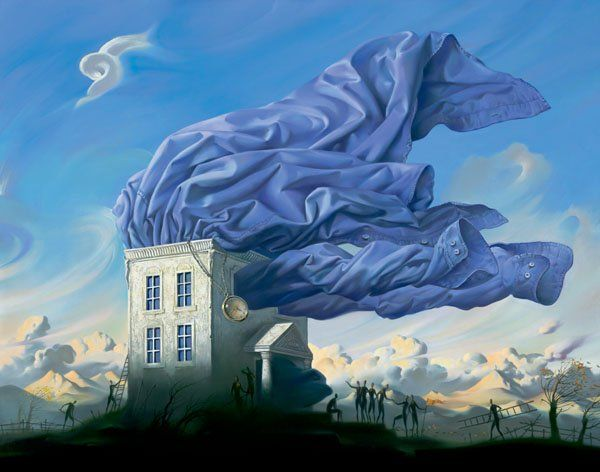 Arte de Vladimir Kush_Crian�as do ex�do 23