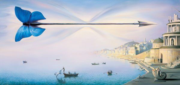 Arte de Vladimir Kush_Crian�as do ex�do 24