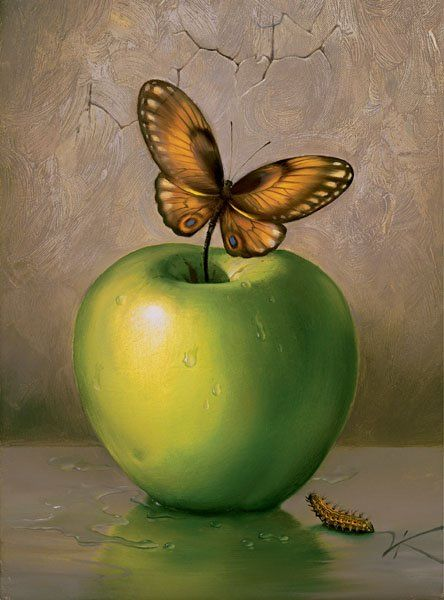 Arte de Vladimir Kush_Crian�as do ex�do 25