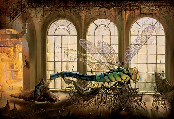 Arte de Vladimir Kush_Crian�as do ex�do 28