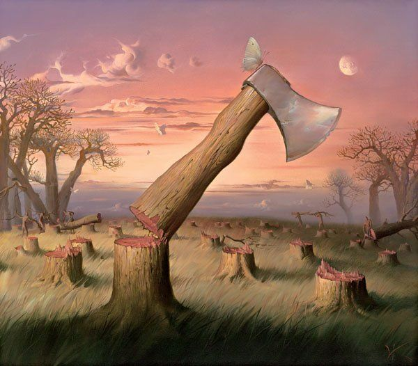 Arte de Vladimir Kush_Crian�as do ex�do 29
