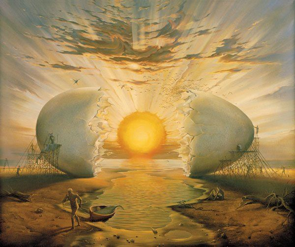 Arte de Vladimir Kush_Crian�as do ex�do 30