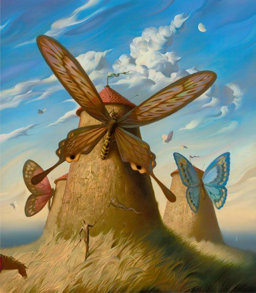 Arte de Vladimir Kush_Crian�as do ex�do 31