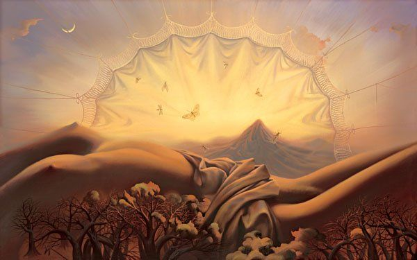 Arte de Vladimir Kush_Crian�as do ex�do 33