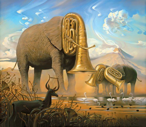 Arte de Vladimir Kush_Crian�as do ex�do 35