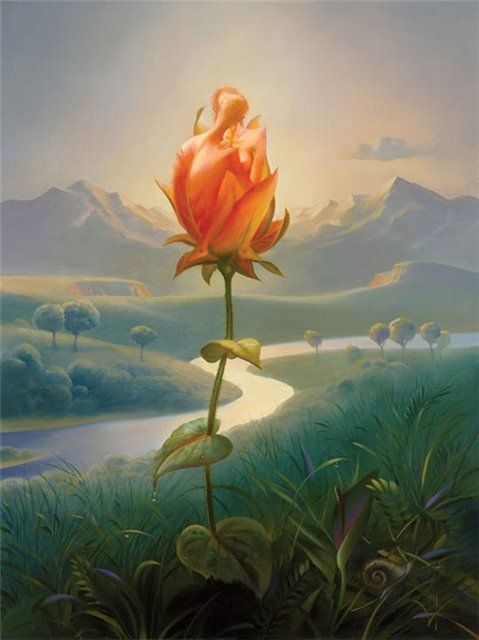 Arte de Vladimir Kush_Crian�as do ex�do 38