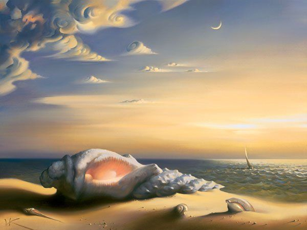Arte de Vladimir Kush_Crian�as do ex�do 39