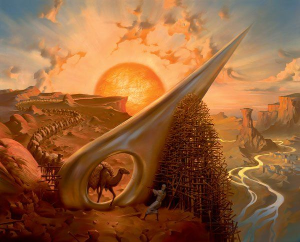 Arte de Vladimir Kush_Crian�as do ex�do 40