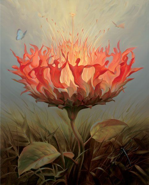 Arte de Vladimir Kush_Crian�as do ex�do 41