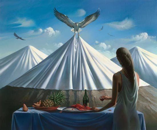 Arte de Vladimir Kush_Crian�as do ex�do 42