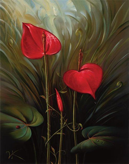 Arte de Vladimir Kush_Crian�as do ex�do 44