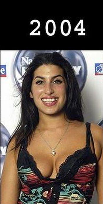 Amy Winehouse com o passar dos anos