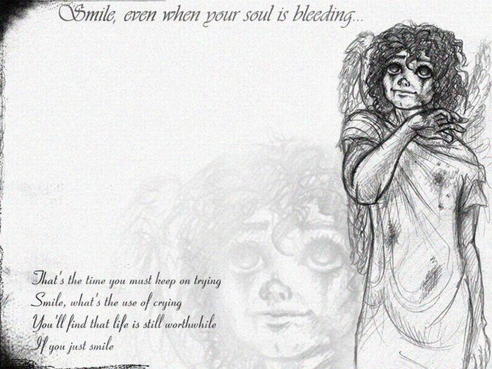 Assustadores desenhos em tributo a Michael Jackson