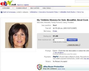 Britânico leiloa a mãe no eBay