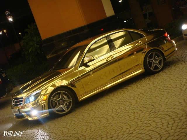 Mercedes Golden  C63 AMG