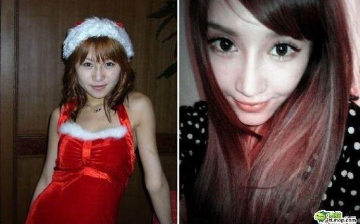 Transformação de uma garota chinesa