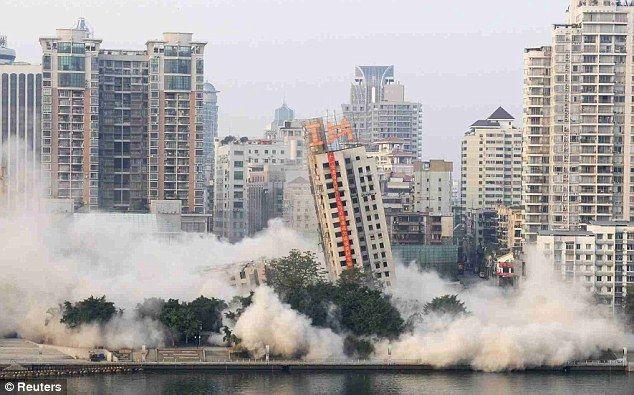 Falha na demolição