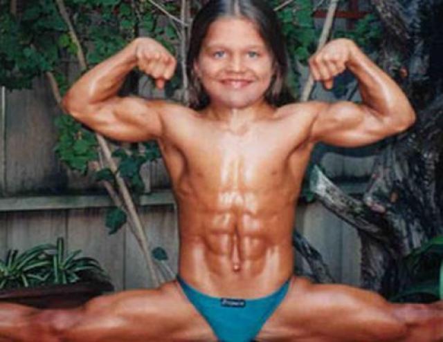 Sandrak, o garoto fisiculturista completou 16 anos