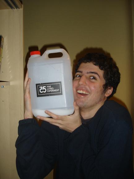 O experimento dos 5 litros