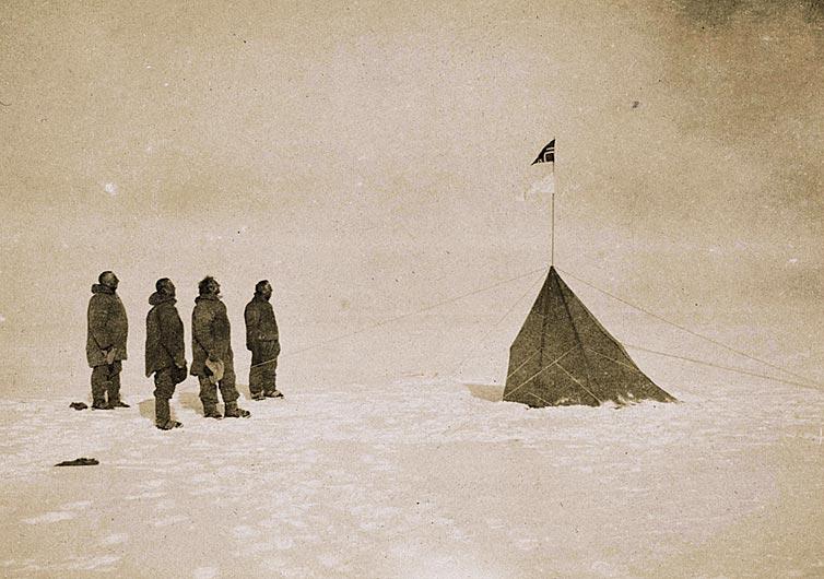 Encontraram a única foto da primeira expedição ao Polo Sul