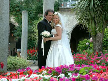 Foto do casamento do bígamo