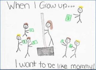 Quando crescer quero ser igual mamãe