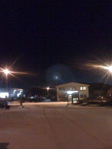 Misteriosa luz espiral sobre a Noruega