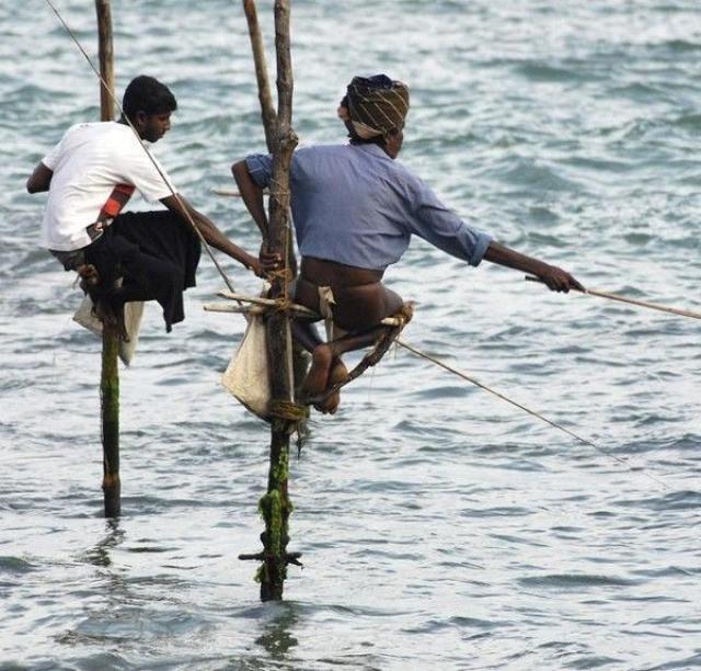 Curioso método de pesca